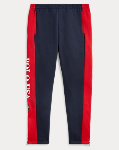 폴로 랄프로렌 Polo Ralph Lauren Double-Knit Drawstring Pant,Aviator Navy/Rl 2000 Red