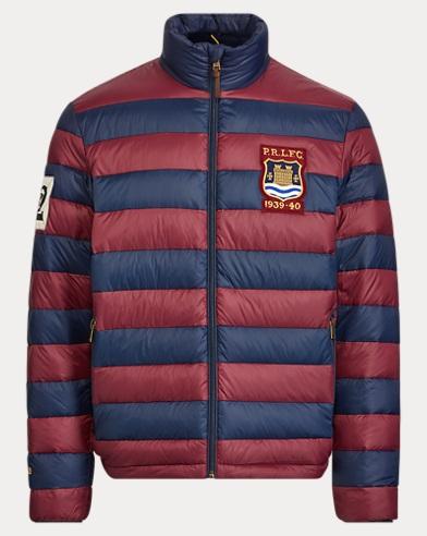 폴로 랄프로렌 럭비 다운 패딩 자켓 Polo Ralph Lauren Packable Rugby Down Jacket,Classic Wine/Aviator Navy