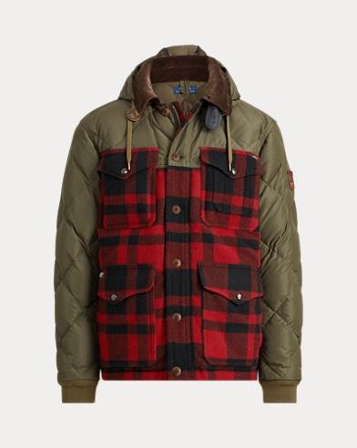 폴로 랄프로렌 체크 하이브리드 코트 Polo Ralph Lauren Plaid Hybrid Coat,Olive/Red Black Check