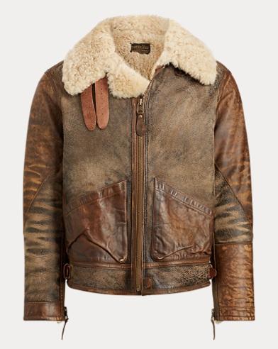 폴로 랄프로렌 시어링 양털 붐버 자켓 (브라운) Polo Ralph Lauren Shearling Bomber Jacket,Warren Brown