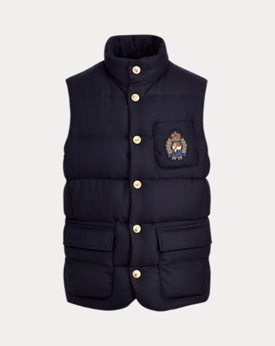 폴로 랄프로렌 750 필 파워 울 패딩 다운 조끼 네이비 Polo Ralph Lauren Wool Down Vest, RL Navy