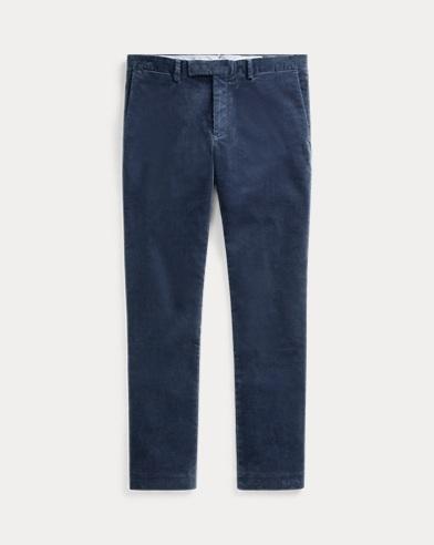 폴로 랄프로렌 코듀로이 팬츠 블루 (슬림핏) Polo Ralph Lauren Stretch Slim Fit Corduroy Pant, Blue Corsair