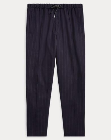 폴로 랄프로렌 스트레치 울 스트링 팬츠 (릴렉스 핏) Polo Ralph Lauren Relaxed Fit Stretch Wool Pant,Navy Chalk Stripe