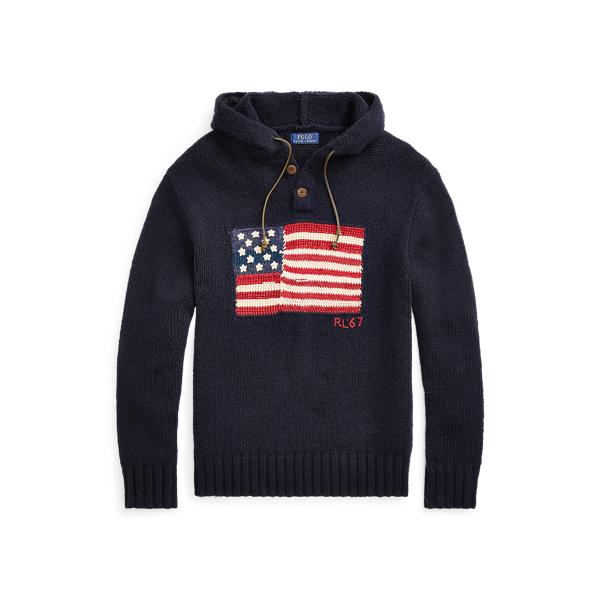 Ralph Lauren - Flag Wool-Blend Hooded Sweater - 1