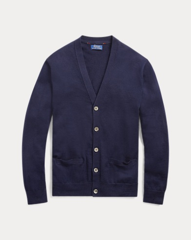폴로 랄프로렌 Polo Ralph Lauren Washable Merino Wool Cardigan,헌터 Hunter Navy