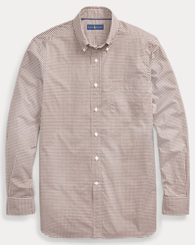 폴로 랄프로렌 Polo Ralph Lauren Classic Fit Gingham Shirt,Mocha/White