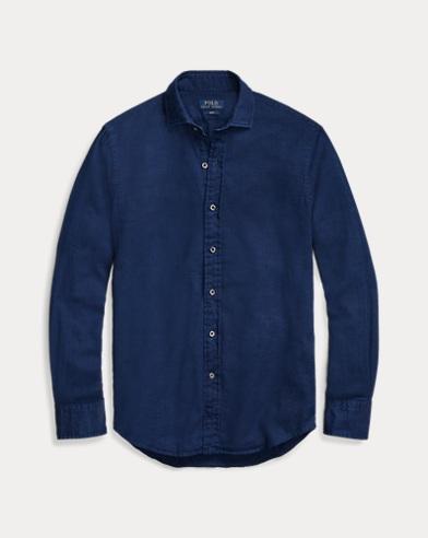 폴로 랄프로렌 Polo Ralph Lauren Classic Fit Indigo Twill Shirt,Dark Indigo