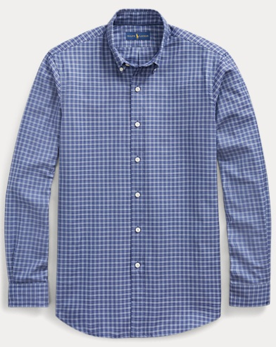 폴로 랄프로렌 Polo Ralph Lauren Classic Fit Plaid Twill Shirt,Midnight/Blue Multi