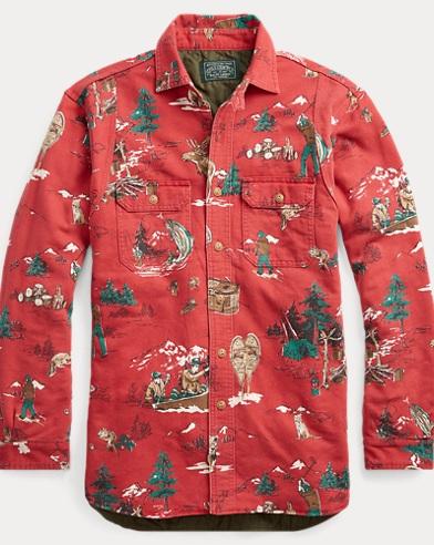 폴로 랄프로렌 사틴 셔츠 자켓 Polo Ralph Lauren Print Sateen Shirt Jacket, Adirondack Scenic