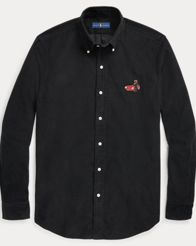폴로 랄프로렌 블랙 코듀로이 폴로베어 셔츠 (클래식 핏) Polo Ralph Lauren Classic Fit Polo Bear Shirt,Polo Black