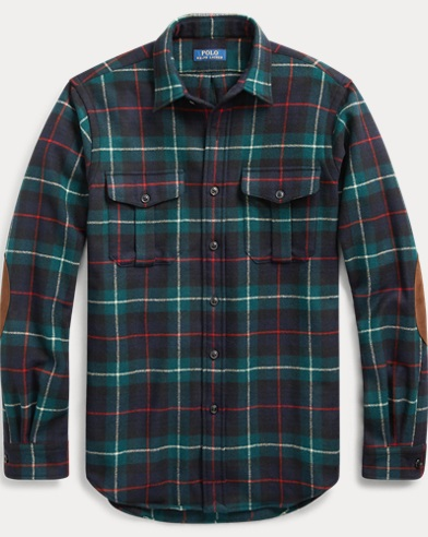 폴로 랄프로렌 타탄 워크셔츠 (클래식 핏) Polo Ralph Lauren Classic Fit Tartan Workshirt,Navy/Green