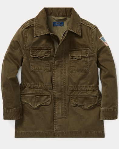 폴로 랄프로렌 보이즈 자켓 Polo Ralph Lauren Cotton Canvas Combat Jacket,Mountain Green