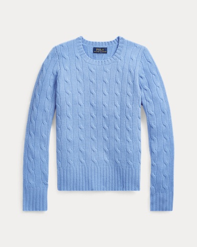 폴로 랄프로렌 걸즈 꽈배기 니트 캐시미어 스웨터 Polo Ralph Lauren Cable-Knit Cashmere Sweater,New Litchfield