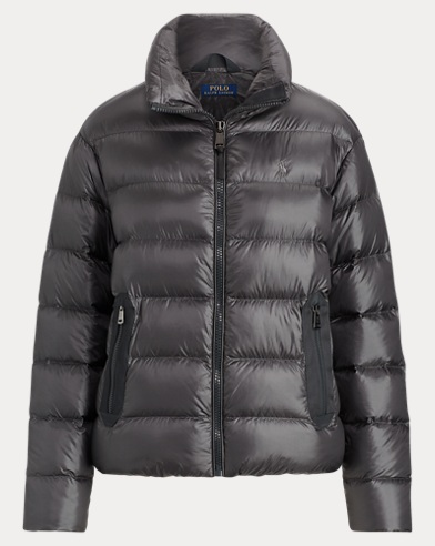 폴로 랄프로렌 750필 파워 숏패딩 그레이 Polo Ralph Lauren Packable Down Jacket, Navy Grey
