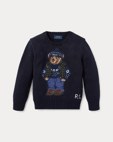 폴로 랄프로렌 남아용 울 스웨터 Polo Ralph Lauren Polo Bear Cotton-Wool Sweater, Hunter Navy