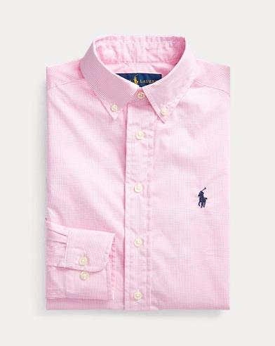폴로 랄프로렌 보이즈 셔츠 Polo Ralph Lauren Slim Fit Cotton Dress Shirt,Pink Multi