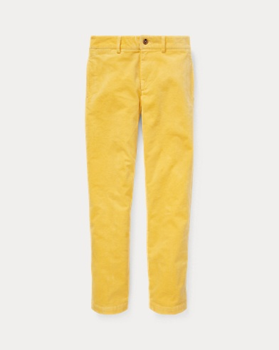 폴로 랄프로렌 보이즈 바지 옐로우 Polo Ralph Lauren Slim Fit Stretch Corduroy Pant,Beach Yellow