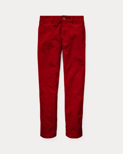 폴로 랄프로렌 보이즈 바지 레드 Polo Ralph Lauren Slim Fit Stretch Corduroy Pant,Park Avenue Red