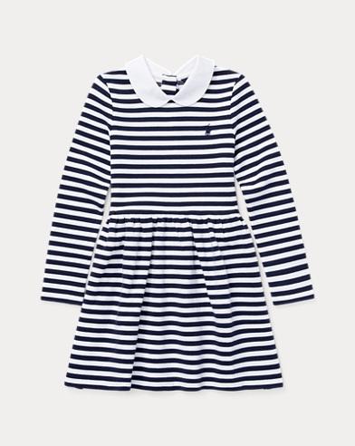폴로 랄프로렌 Polo Ralph Lauren Striped Fit-and-Flare Dress,French Navy/White