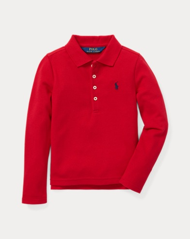 폴로 랄프로렌 Polo Ralph Lauren Stretch Cotton Mesh Polo Shirt,Park Ave Red
