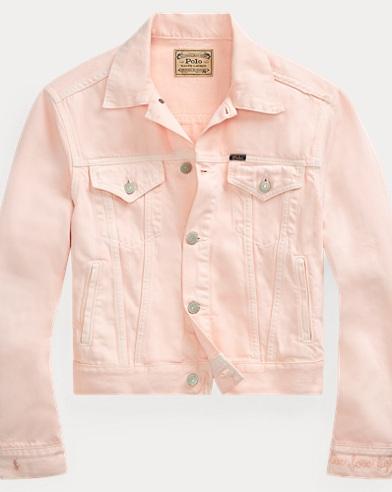 폴로 랄프로렌 Polo Ralph Lauren Pink Pony Denim Trucker Jacket,Love Pink