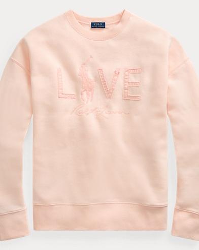 폴로 랄프로렌 Polo Ralph Lauren Pink Pony Fleece Pullover,Love Pink