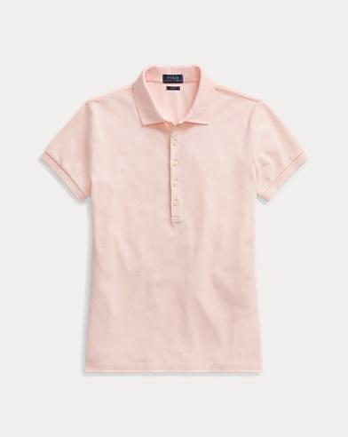폴로 랄프로렌 Polo Ralph Lauren Pink Pony Slim Polo Shirt,Love Pink