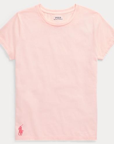 폴로 랄프로렌 Polo Ralph Lauren Pink Pony Cotton T-Shirt,Love Pink