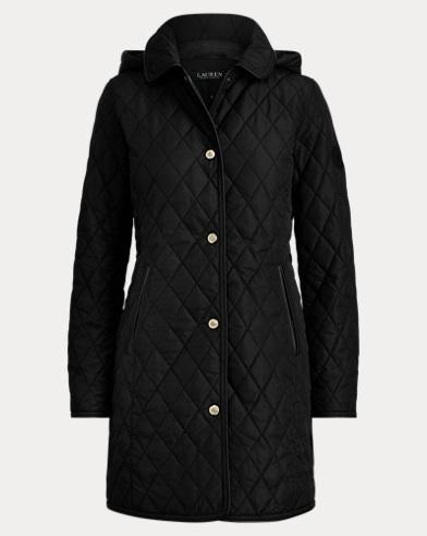 폴로 랄프로렌 Polo Ralph Lauren Faux Leather-Trim Jacket,Black
