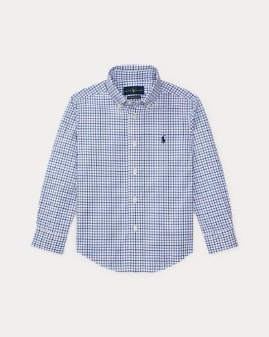 폴로 랄프로렌 남아용 셔츠 블루 Polo Ralph Lauren Stretch Cotton Poplin Shirt