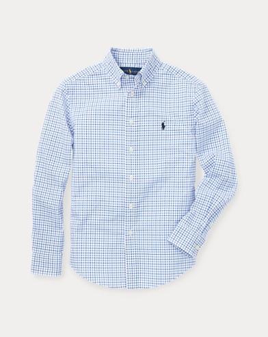 폴로 랄프로렌 보이즈 셔츠 Polo Ralph Lauren Plaid Cotton Poplin Shirt,Blue Multi