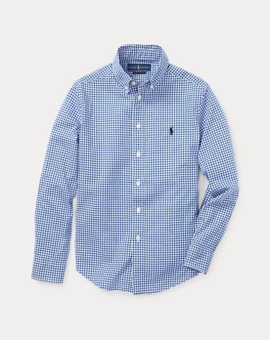 폴로 랄프로렌 보이즈 깅엄 셔츠 Polo Ralph Lauren Gingham Cotton Poplin Shirt,Blue Multi