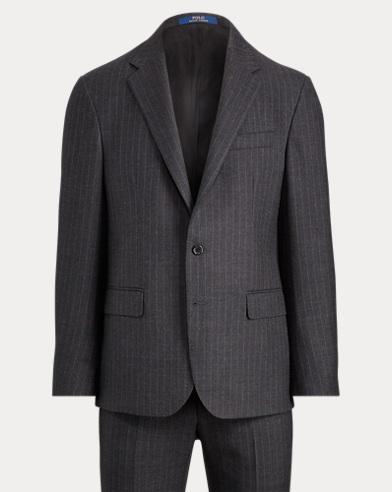 폴로 랄프로렌 Polo Ralph Lauren Polo Pin Dot Striped Suit,Gry/Gray
