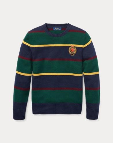 폴로 랄프로렌 보이즈 울 스웨터 네이비 Polo Ralph Lauren Striped Merino Wool Sweater,Hunter Navy Multi