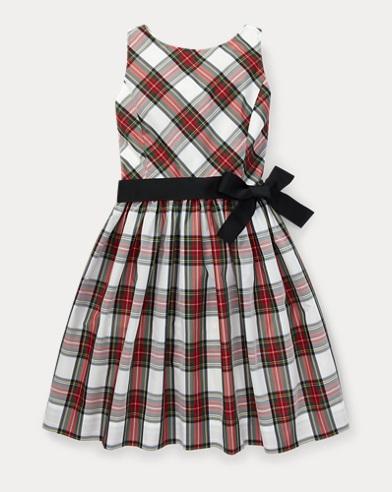폴로 랄프로렌 걸즈 원피스 Polo Ralph Lauren Tartan Fit-and-Flare Dress,Regal Tartan