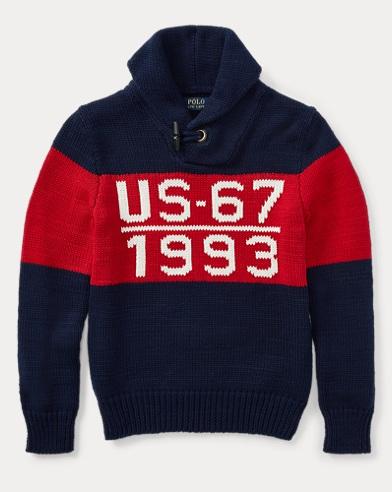 폴로 랄프로렌 Polo Ralph Lauren CP-93 Cotton Shawl Sweater,Navy