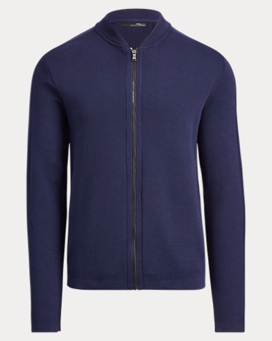 폴로 랄프로렌 Polo Ralph Lauren Cotton-Blend Full-Zip Sweater,French Navy