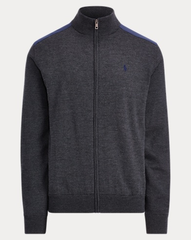폴로 랄프로렌 Polo Ralph Lauren Merino Wool Full-Zip Sweater,Avery Heather