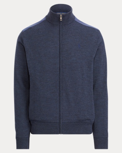 폴로 랄프로렌 Polo Ralph Lauren Merino Wool Full-Zip Sweater,Winter Navy Heather