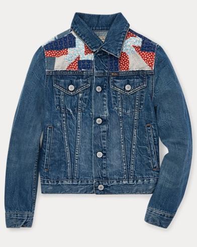 폴로 랄프로렌 걸즈 패치워크 데님자켓 Polo Ralph Lauren Patchwork Denim Trucker Jacket,Pasilee Wash