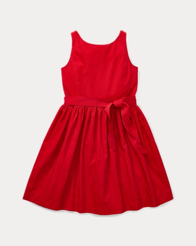 폴로 랄프로렌 걸즈 원피스 레드 Polo Ralph Lauren Corduroy Fit-and-Flare Dress,Park Avenue Red