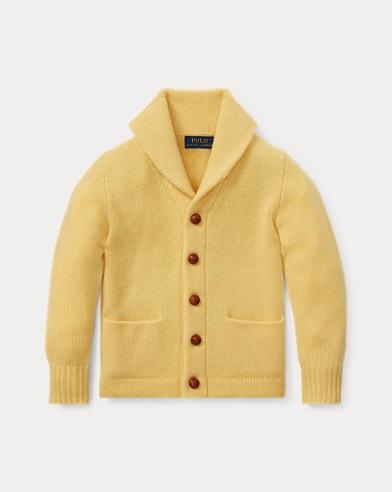 폴로 랄프로렌 남아용 숄 카라 가디건 Polo Ralph Lauren Cashmere Shawl-Collar Cardigan,Fall Yellow