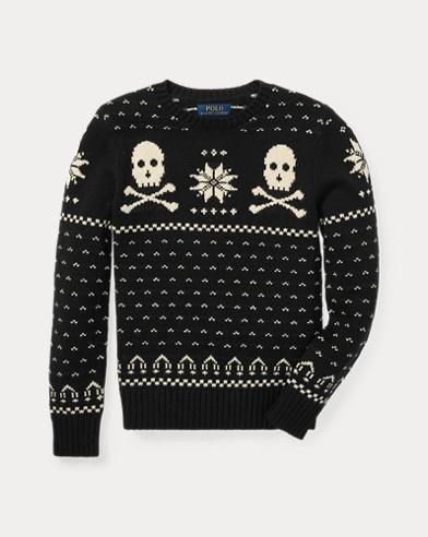 폴로 랄프로렌 보이즈 스웨터 블랙 Polo Ralph Lauren Ski Bear Cotton-Merino Sweater,Polo Black Multi