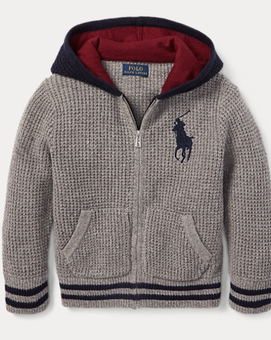 폴로 랄프로렌 남아용 집업 후드티 Polo Ralph Lauren Big Pony Cotton-Blend Hoodie,Grey Heather