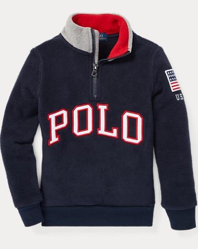 폴로 랄프로렌 남아용 하프 집업 풀오버 Polo Ralph Lauren Fleece Mockneck Pullover,Aviator Navy