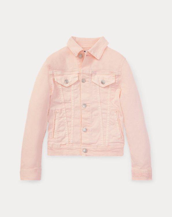폴로 랄프로렌 걸즈 트러커 청자켓 Polo Ralph Lauren Pink Pony Denim Trucker Jacket,Love Pink