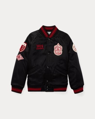 폴로 랄프로렌 남아용 리버시블 야구 자켓 블랙 Polo Ralph Lauren Reversible Baseball Jacket,Polo Black