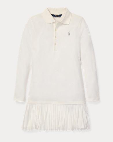 폴로 랄프로렌 걸즈 원피스 Polo Ralph Lauren Pleated Polo Dress,Nevis
