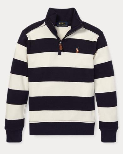 폴로 랄프로렌 Polo Ralph Lauren Striped Cotton Pullover,Chic Cream Multi