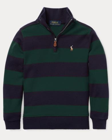폴로 랄프로렌 Polo Ralph Lauren Striped Cotton Pullover,College Green Multi